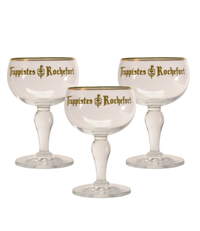 Trappistes Rochefort Bierglas - 33cl (Set van 3)