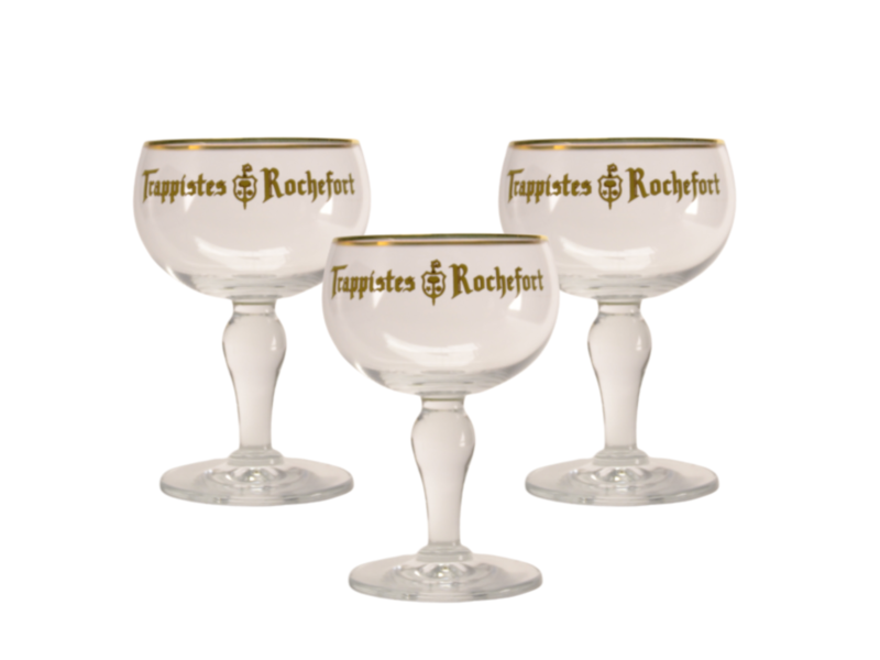 Gbol Trappistes Rochefort Beer glass - 33cl (Set of 3)