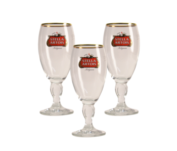 Stella Artois zu Fuss Bierglas - 25cl (3 Stück)