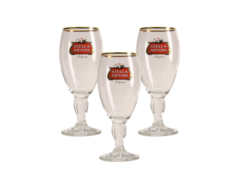 MD / CLIP 03 Verre a Biere Stella Artois a pied - 25cl (Lot de 3)