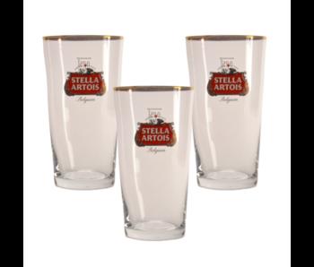 Stella Artois Bierglas - 25cl (3 Stück)