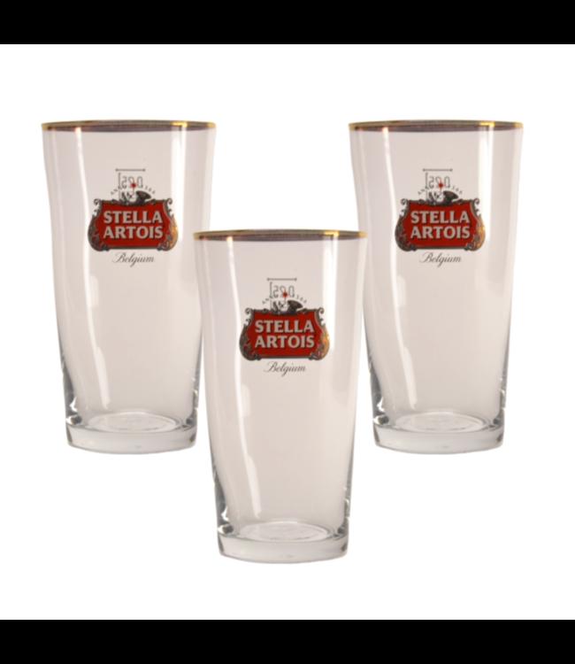SET VAN 3   l-------l Stella Artois Boerke Bierglas - 25cl (Set van 3)
