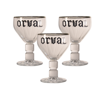 Orval Beer glass - 33cl (Set of 3)