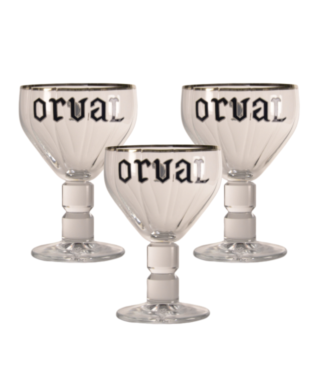 SET VAN 3   l-------l Orval Bierglas - 33cl (3 Stück)