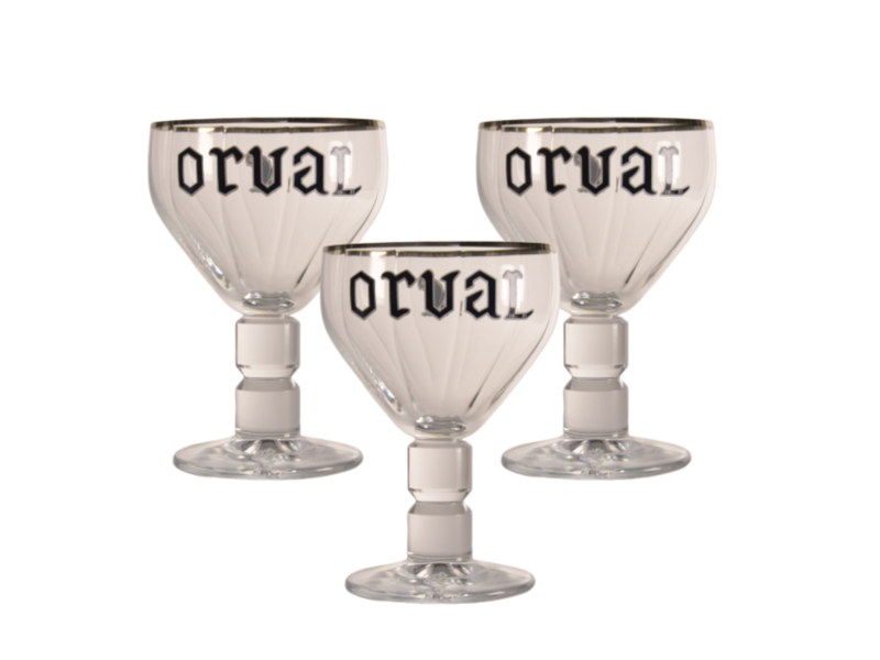 Gbol Orval Beer glass - 33cl (Set of 3)