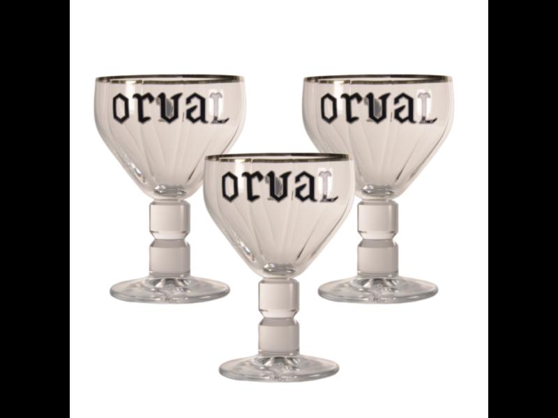 MD / CLIP 03 Orval Bierglas - 33cl (3 Stück)