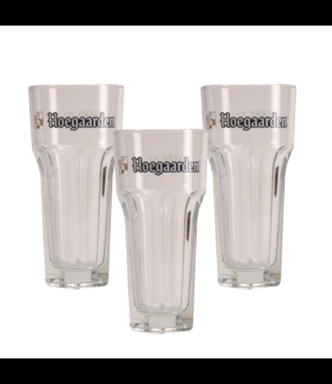 SET VAN 3   l-------l Hoegaarden Bierglas - 25cl (3 Stück)