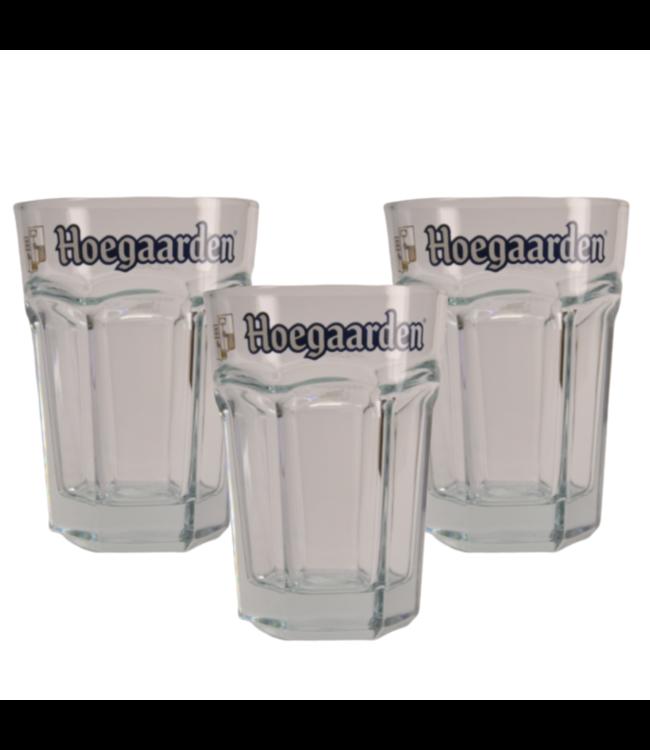 SET VAN 3 x 50cl glas  l-------l Hoegaarden Bierglas - 50cl (Set van 3)