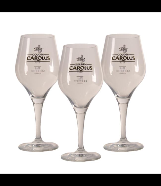 Gouden Carolus Bierglas - 33cl (Set van 3)