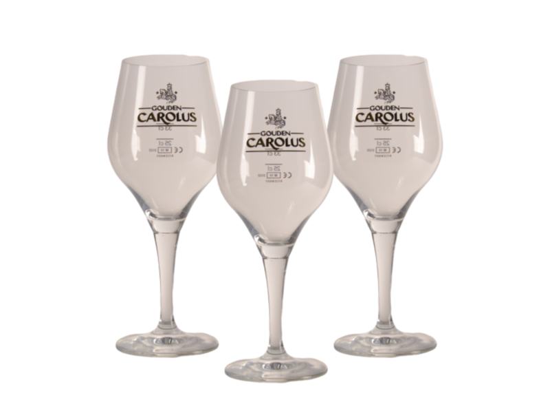 Gbol Verre a Biere Gouden Carolus - 33cl (Lot de 3)