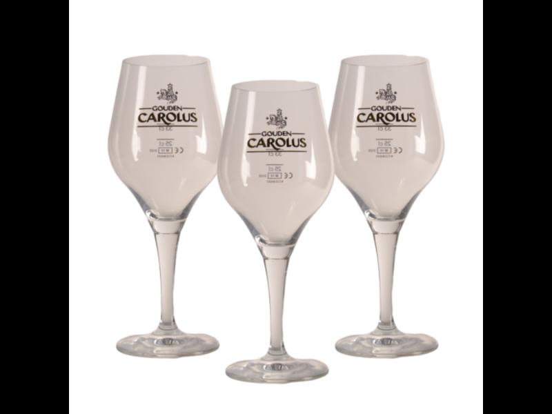 Mag 3set // Gouden Carolus Beer glass - 33cl (Set of 3)