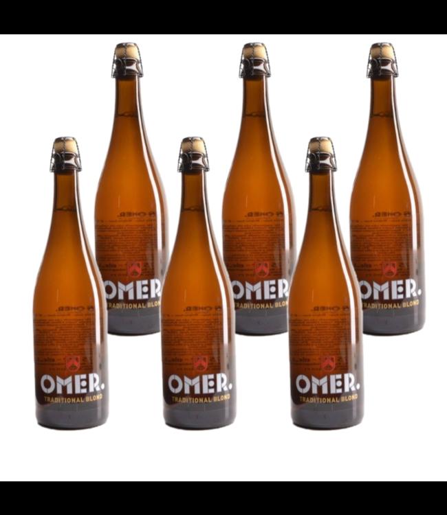 SET VAN 6    l-------l Omer Blond - 75cl - Set van 6 stuks