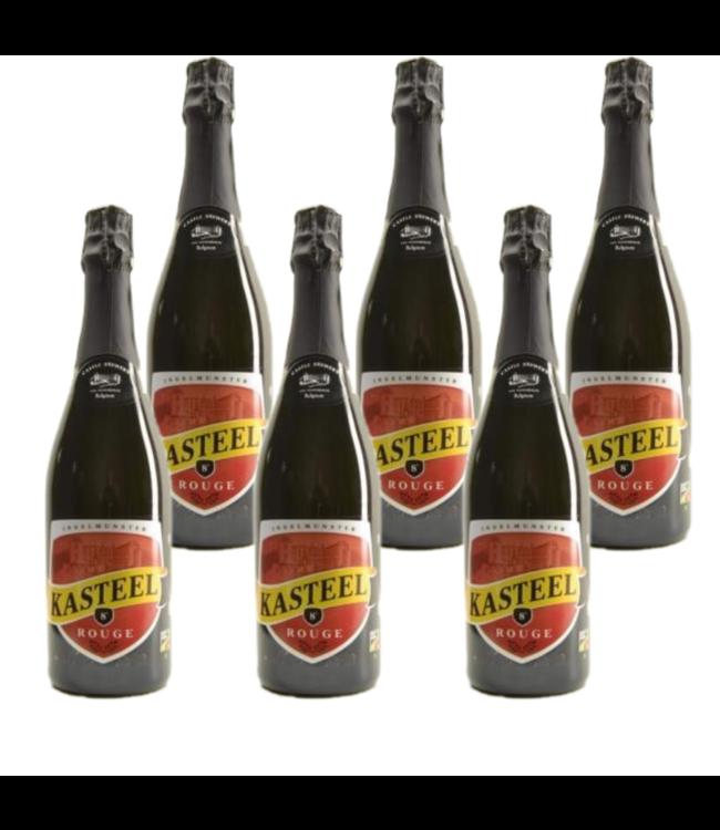 SET VAN 6    l-------l Kasteelbier Rouge - 75cl - Set van 6 stuks