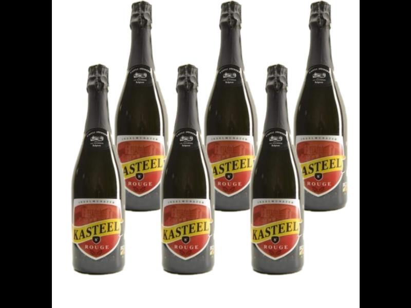 6set // Kasteelbier Rouge - 75cl - Set van 6 stuks