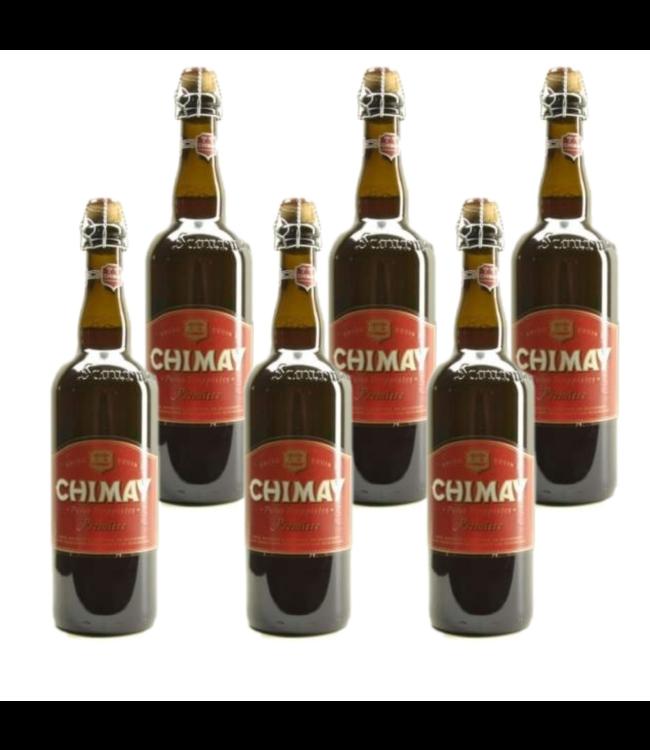 SET VAN 6    l-------l Chimay Rood Premiere - 75cl - Set van 6 stuks