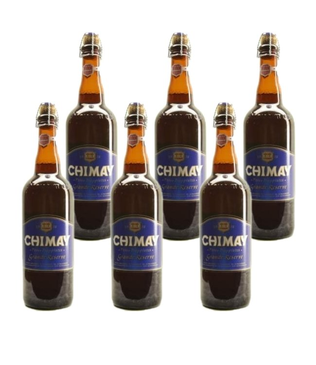 SET VAN 6    l-------l Chimay Blauw Grande Reserve - 75cl - Set van 6 stuks