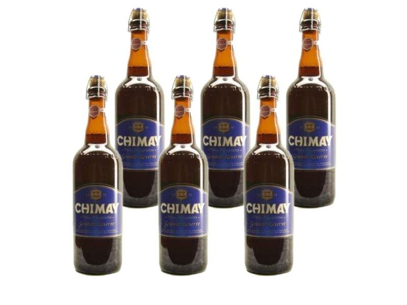 WB / CLIP 06 Chimay Blauw Grande Reserve - 75cl - Set of 6 bottles