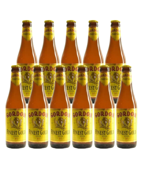 SET VAN 11   l-------l Gordon Finest Gold - 33cl - Set of 11 bottles