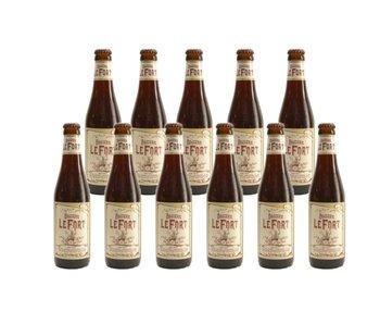 LeFort Brown - 33cl - Set of 11 bottles (+ free glass)