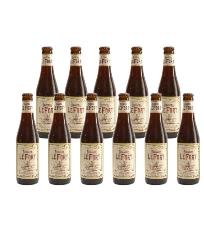 SET VAN 11   l-------l Brasserie Lefort - 33cl - Set van 11 stuks