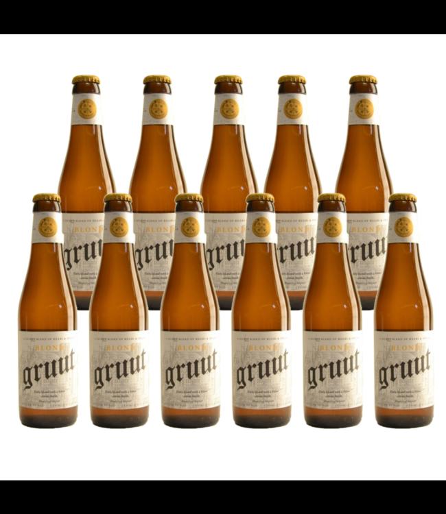 SET VAN 11   l-------l Gruut Belgian Blond - 33cl - Set van 11 stuks
