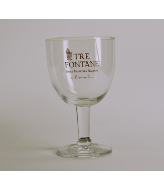Tre Fontane Beer Glass