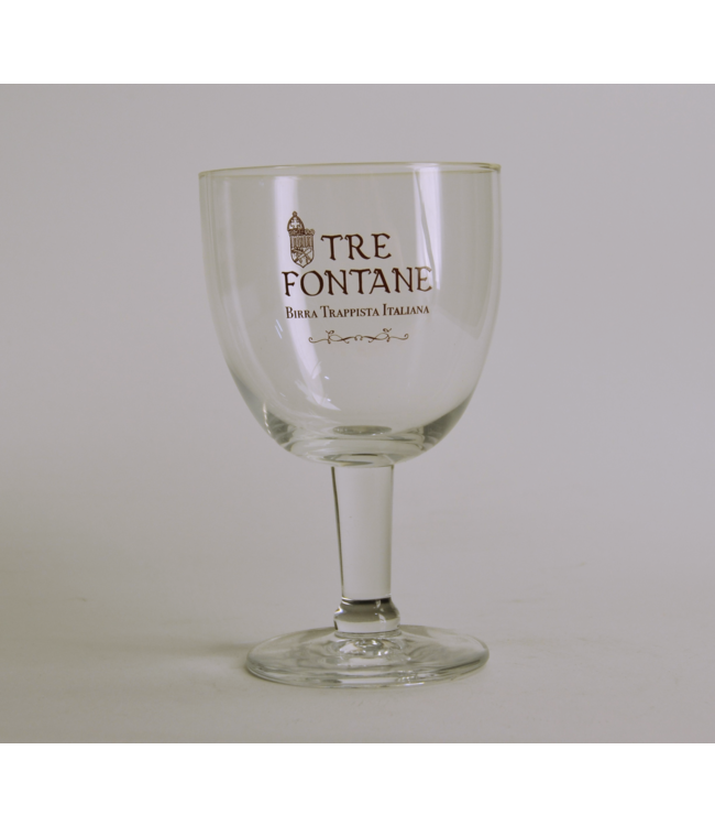 Tre Fontane Beer Glass