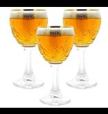 Mag 3set // Grimbergen Bierglazen - 33cl - Set van 3 stuks