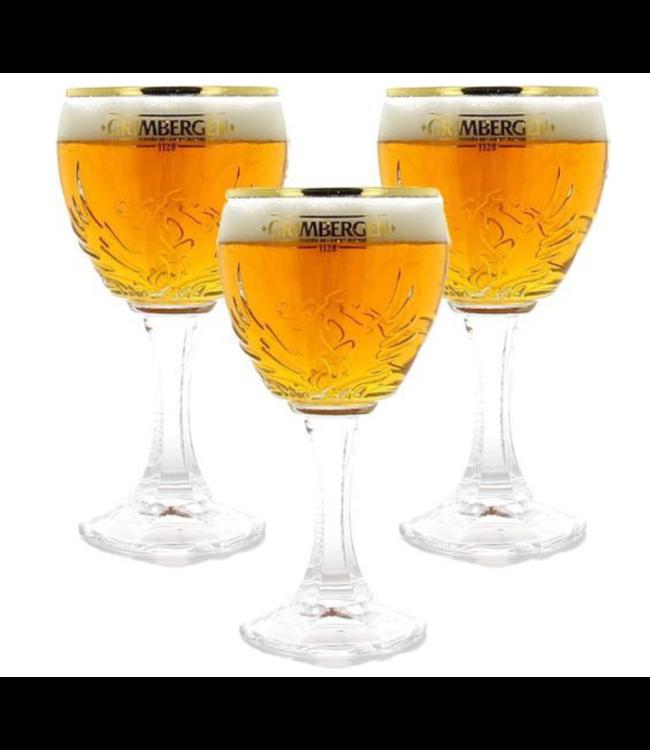 SET VAN 3   l-------l Grimbergen Bierglazen - 33cl - Set van 3 stuks