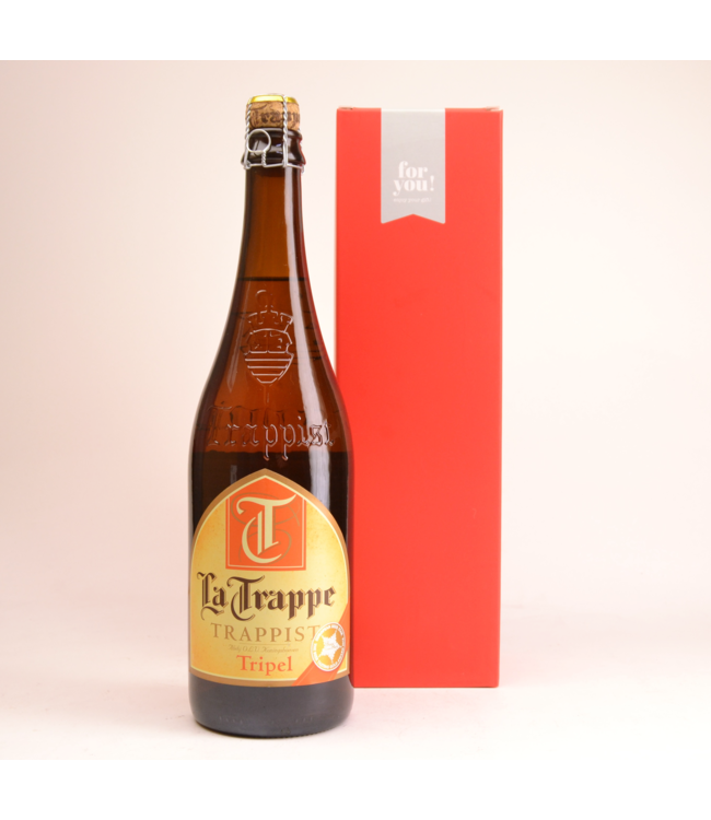 RODE KOKER l-------l La Trappe Tripel  Biergeschenk (75cl + koker)