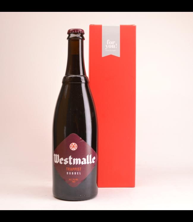 Westmalle Trappist Dubbel  Biergeschenk (75cl + koker)