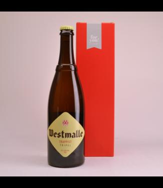 RODE KOKER l-------l Westmalle Tripel  Beer Gift (75cl + Cilinder)