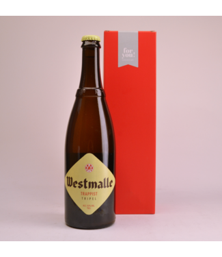 RODE KOKER l-------l Westmalle Tripel  Biergeschenk (75cl + koker)