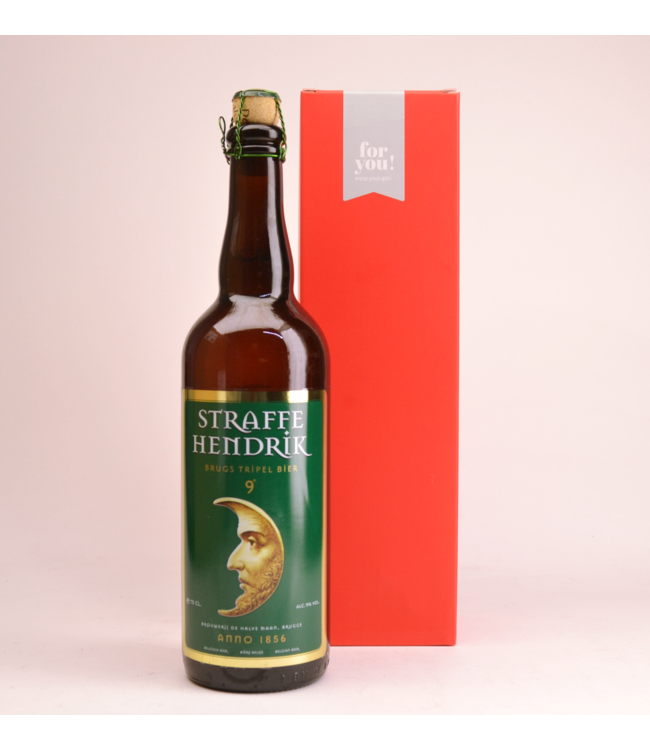 Straffe Hendrik 9 Tripel  Beer Gift (75cl + Cilinder)