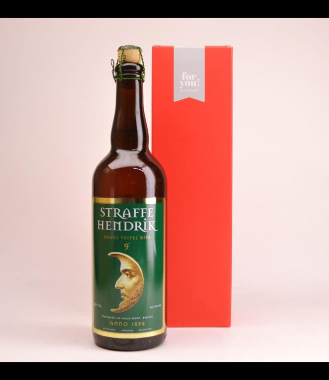 Straffe Hendrik 9 Tripel  Biergeschenk (75cl + koker)