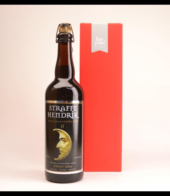 Straffe Hendrik 11 Quadrupel  Biergeschenk (75cl + koker)