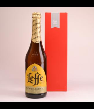 RODE KOKER l-------l Leffe Blond  Biergeschenk (75cl + koker)