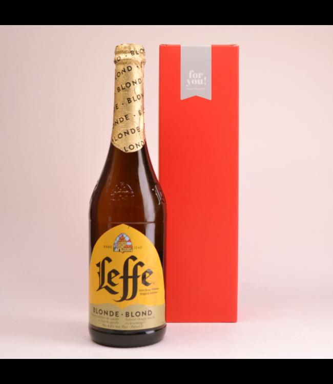 Leffe Blond  Biergeschenk (75cl + koker)