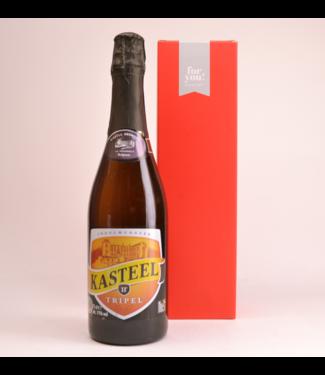 RODE KOKER l-------l Kasteelbier Tripel  Beer Gift (75cl + Cilinder)