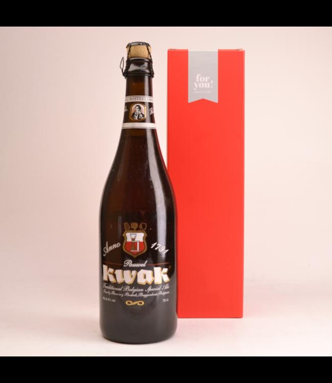 RODE KOKER l-------l Pauwel Kwak  Biergeschenk (75cl + koker)