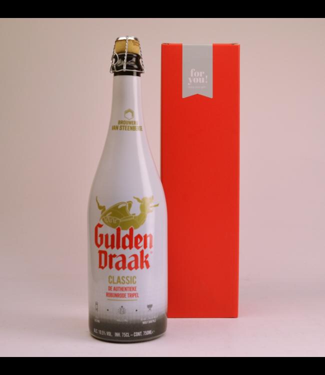 RODE KOKER l-------l Gulden Draak  Biergeschenk (75cl + koker)