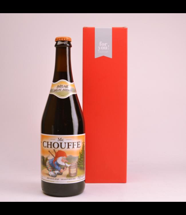 RODE KOKER l-------l Mc Chouffe  Biergeschenk (75cl + koker)