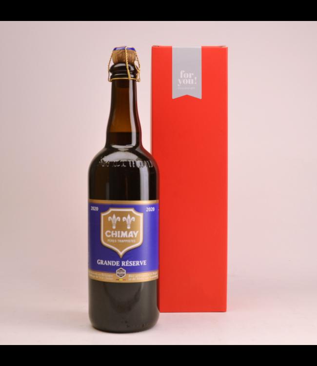 RODE KOKER l-------l Chimay Blauw Grande Reserve  Biergeschenk (75cl + koker)