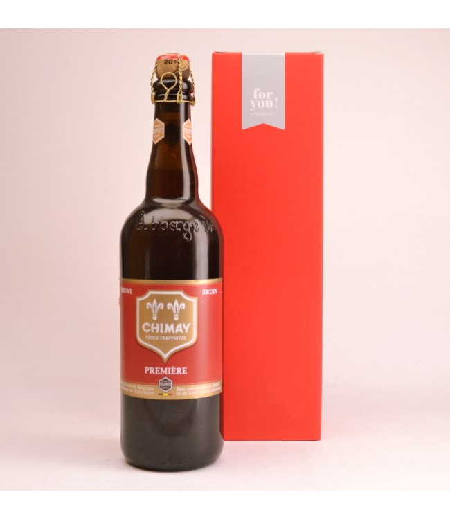 RODE KOKER l-------l Chimay Red Premiere  Beer Gift (75cl + Cilinder)