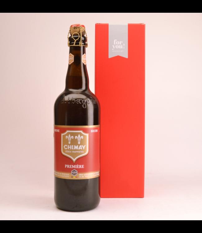 RODE KOKER l-------l Chimay Rood Premiere  Biergeschenk (75cl + koker)
