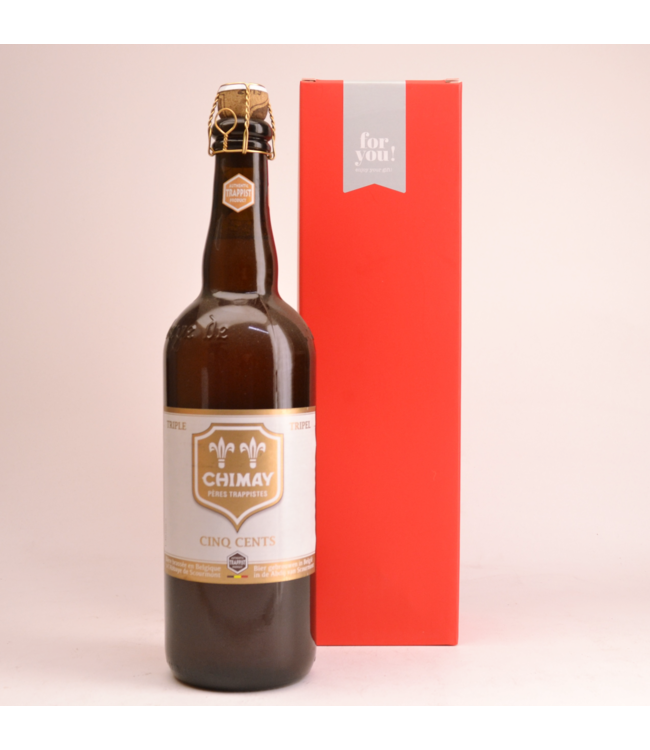 Chimay Cinq Cents  Beer Gift (75cl + Cilinder)