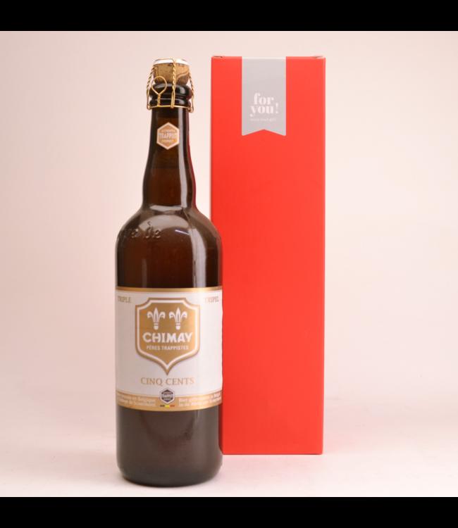 Chimay Cinq Cents  Bier Geschenke (75cl + Kocher)