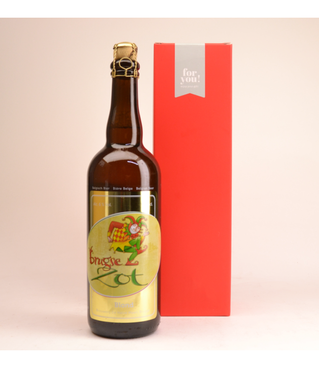 Brugse Zot Blond  Beer Gift (75cl + Cilinder)