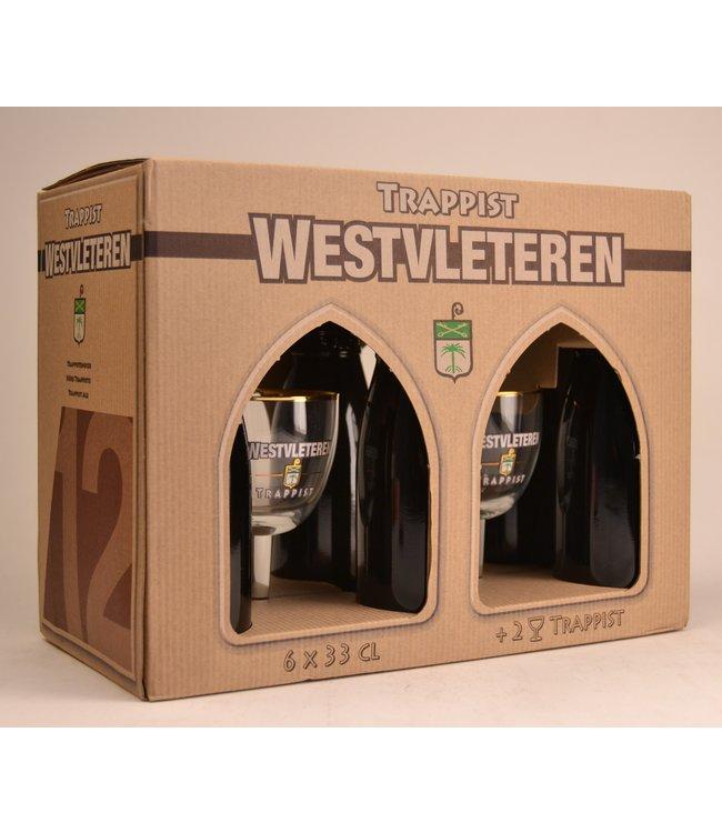 6 FLESSEN + 2 GLAZEN    l-------l Westvleteren Biergeschenk (6x33cl + 2xgl)