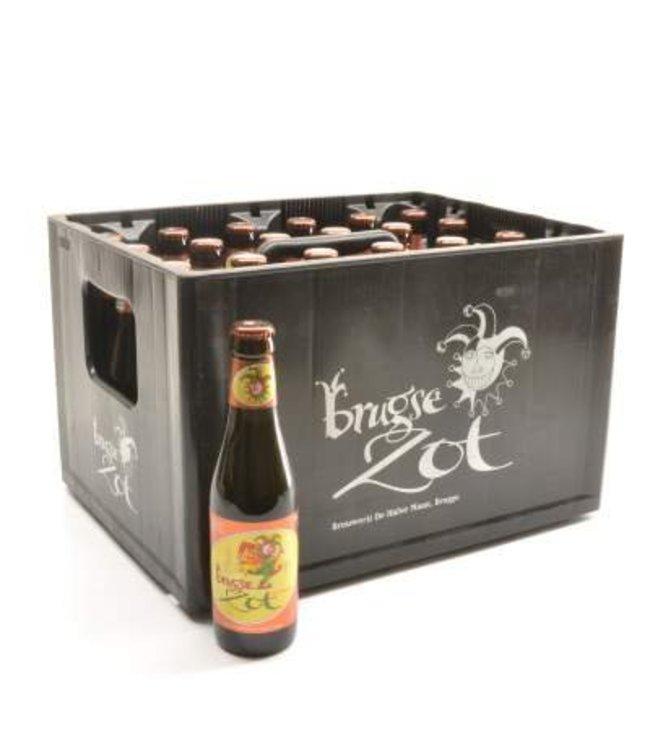 24 FLESSEN    l-------l Brugse Zot Dubbel Bierkorting (-10%)